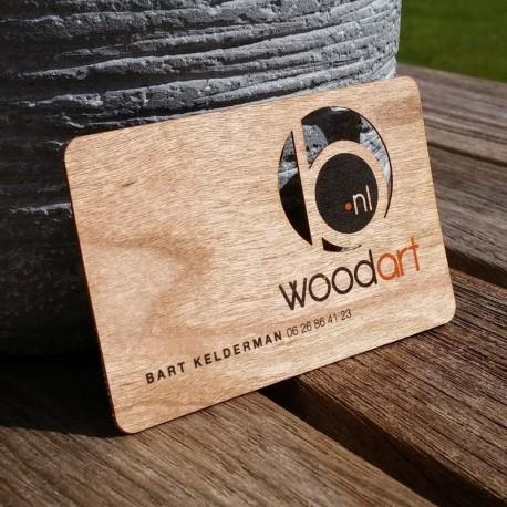 Cartes de visite en bois imprimées