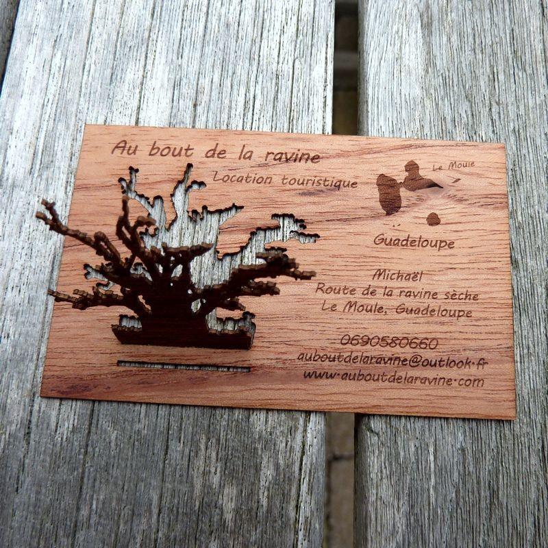 Carte En Bois Decoupee Cartes De Visite Gravees