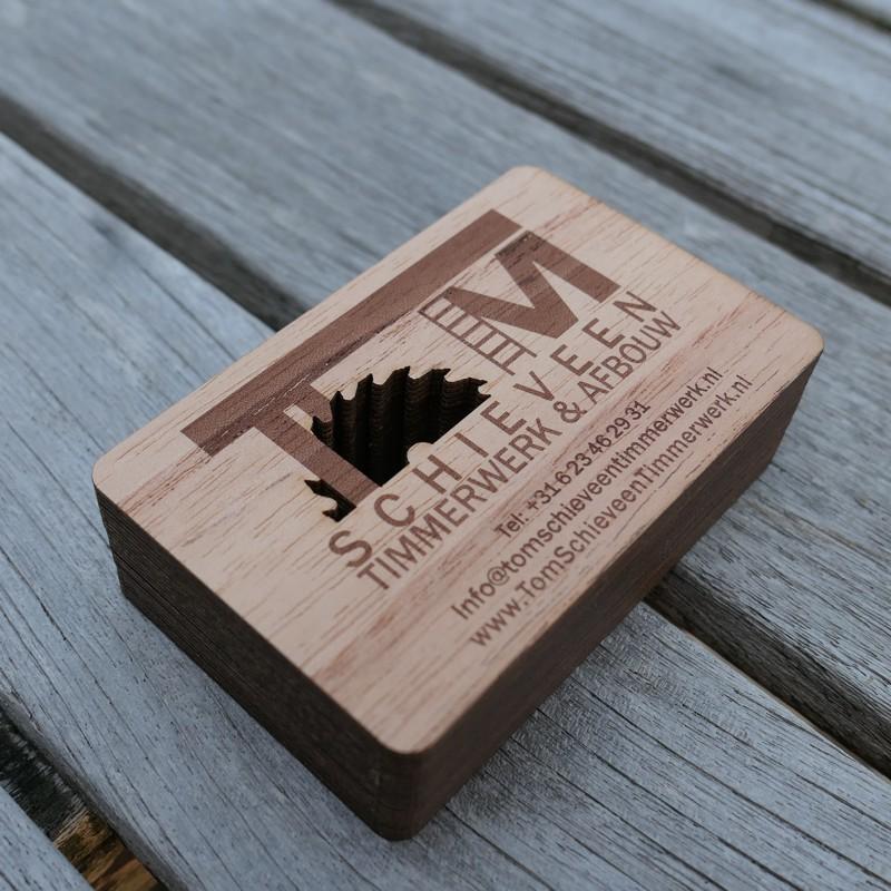 Cartes De Visite En Bois Graves Avec Dcoupe Laser