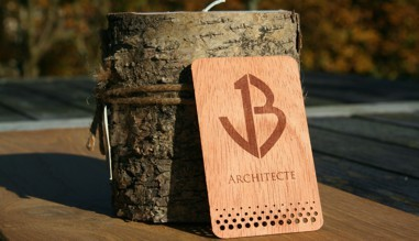 Engraved Wooden Business Cards